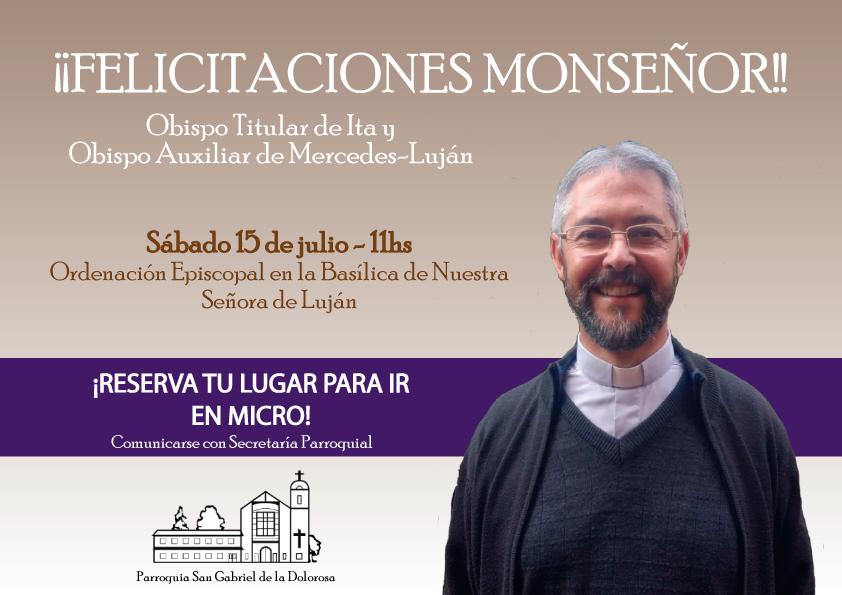 Nombramiento del Padre Jorge Eduardo en Luján