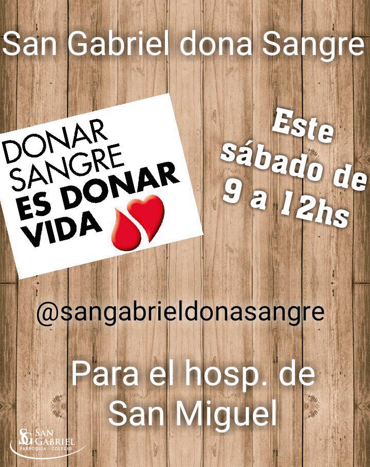 San Gabriel Dona Sangre